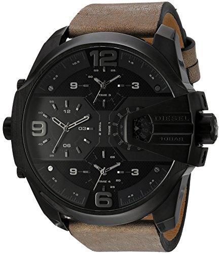 Diesel Diesel Uber Chief Herren-Armbanduhr mit mehreren Uhrwerken und Kronenschutz im Luftfahrt-Design