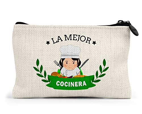 Monedero la Mejor cocinera del Mundo Regalo Original Cocineros Personalizado