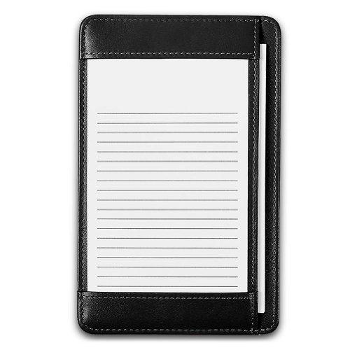 Levenger Leather Shirt Pocket Briefcase - Black, at-Hand Index Card case, 3 x 5 inch Size