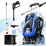mrliance Permissible Pressure 3300PSI Pressure Washer,1.2GPM Compact Power Washer 1250W High Pressure Washer with 4 Nozzles&Soap Bottle for Cleaning Cars Houses Driveways Fences Patios Garden (Blue)