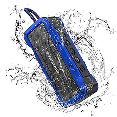 POWERADD MusicFly II Bluetooth Speakers, 36W Portable Wireless Bluetooth Speaker IPX7 Water-resistant / Enhanced Bass / Built-in Mic for iPhone, Samsung and More (Blue)