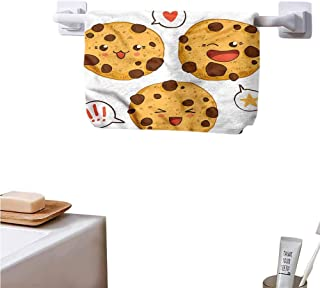 Mannwarehouse Kawaii Pool Towels and Gym Towels Chocolate Chip Cookies Japan Hand Towels Natural, Ultra Absorbent and Eco-Friendly W14 x L27