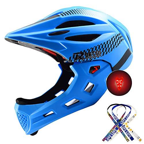 Casco Integral Bicicleta Para Niños Protector De Cabeza Deportivo Para Niños Seguridad...