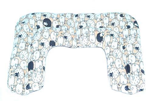 Saco térmico de semillas Sacatusaco, modelo cervical colección Ovejas. Aroma a lavanda 100% natural, con medidas 42x26cm.