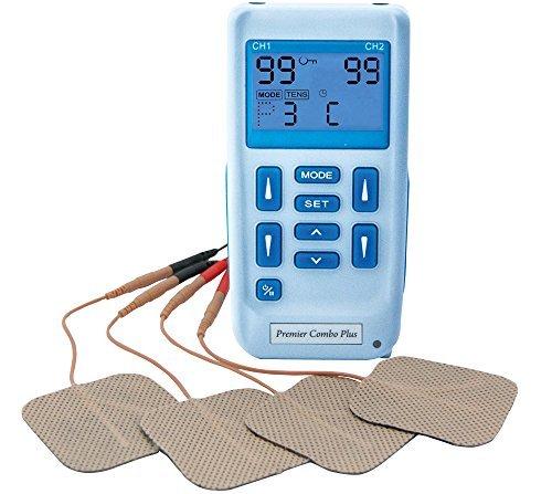 TENS-Gerät kombiniert mit Muskelstimulator Der Premier Plus einfache aufladbare Tens mit zwei Kanälen verfügt über 30 voreingestellte Programme zur Schmerzlinderung und Muskelumerziehu
