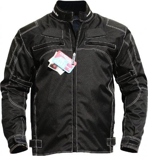 German Wear, Motorradjacke textilien Kombi Jacke schwarz, 48