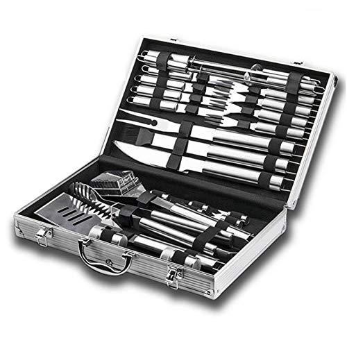 Juego de herramientas para barbacoa de 32 piezas, kit de accesorios para parrilla profesional con guantes para barbacoa, juego de utensilios para barbacoa de acero inoxidable de primera calidad y estu