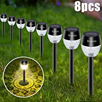 8-Pack Bawoo Outdoor Lights Pathway Sun Powered Landscape Lighting Kit