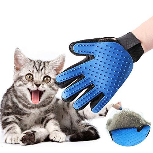 YOUZHA Siliconen kattenhaar verwijderen handschoen huisdier hond Deshedding verzorging kammen borstel badkamer schoonmaken massage handschoenen kattenverzorging huisdierbenodigdheden lila