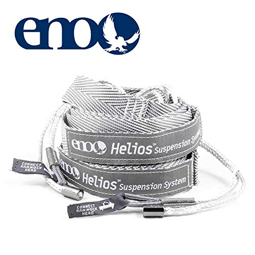 ENO, Eagles Nest Outfitters Helios Ultralight Hammock Straps Suspension System with Storage Bag, 300 LB Capacity, 8