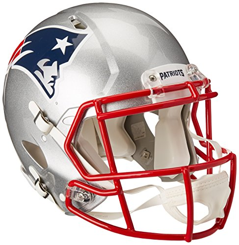 Riddell NFL New England Patriots Speed Authentic Football Helmet Red, Medium