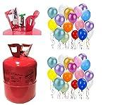Zeus Party Bombola Elio per gonfiare 50 Palloncini + 50 Palloncini Omaggio per Feste Compleanni e Eventi, Scegli Il Tuo Colore Preferito!