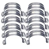 Nge 3inch Rigid Pipe Strap Clamp, Two Hole Strap,U Bracket Tube Clip, Stainless Steel Heavy Duty Pipe Fasten Holder, 10PCS