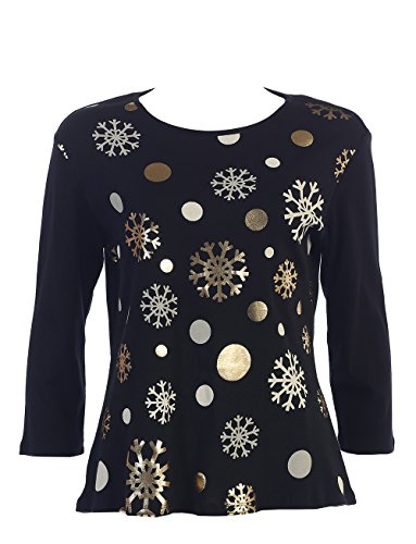 "Jess & Jane ""Snow Medley"" Dressy Christmas Top"