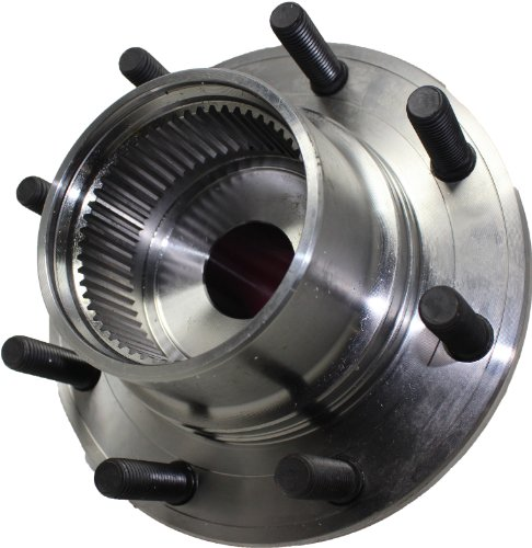 Detroit Axle - SRW 4WD Front Wheel Hub and Bearing Assembly Replacement for Ford F-250 F-350 Super Duty Excursion, with ABS Coarse Threads - 2pc Set