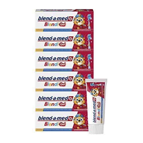 Blend-a-med Blendi Gel Kinder-Zahnpasta, Erdbeer-Geschmack, 6er Pack(6 x 50 ml)