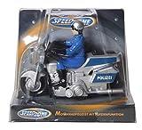 Speed Zone Polizei Motorrad, 11 cm, Aufziehfunktion -