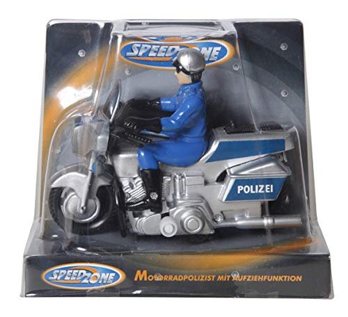 Speed Zone Polizei Motorrad, 11 cm, Aufziehfunktion