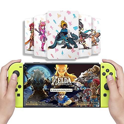 Versão mais recente, 24 peças de cartas NFC The Legend of Zelda Breath of The Wild, o Despertar Zelda Botw Cartas de Recompensas do Jogo Compatível com Switch/Lite Wii U.