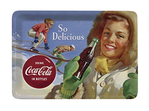 PLATEX 93112720930 Coca-Cola Plateau Décor Ski Mélamine 27 x 20 x 1 cm