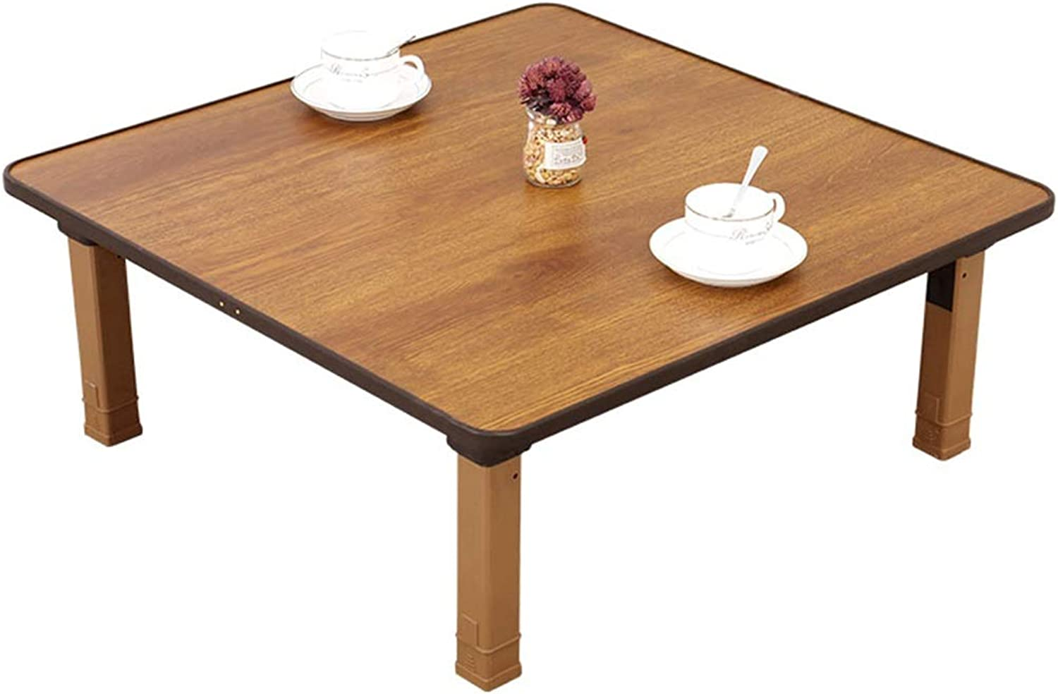 Dining Tables Table Bed Folding Table Home Dining Table Ground Table Small Table Tatami Bay Window Table Low Table Small Square Table Brown (color   Brown, Size   60  60  28cm)