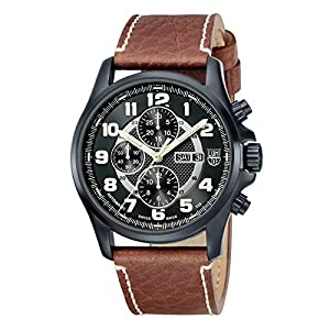 Luminox Automatic Valjoux Field Chronograph 1860 Series Black Dial men's watch #1867 Review and For Sale and review image