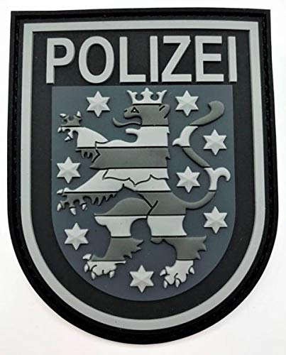 Polizei Thüringen Black Ops Rubberpatch mit Klett