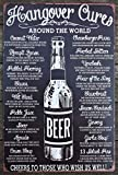 TSHOME Buy Hangover Cure New Metal Tin Sign Retro Vintage Aluminum Sign for Wall Decor Bar Pub and Man Cave Shabby Chic 8x12inch