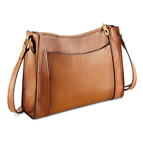 Kattee Leather Purses and Handbags for Women Crossbody Shoulder Bags - Brown