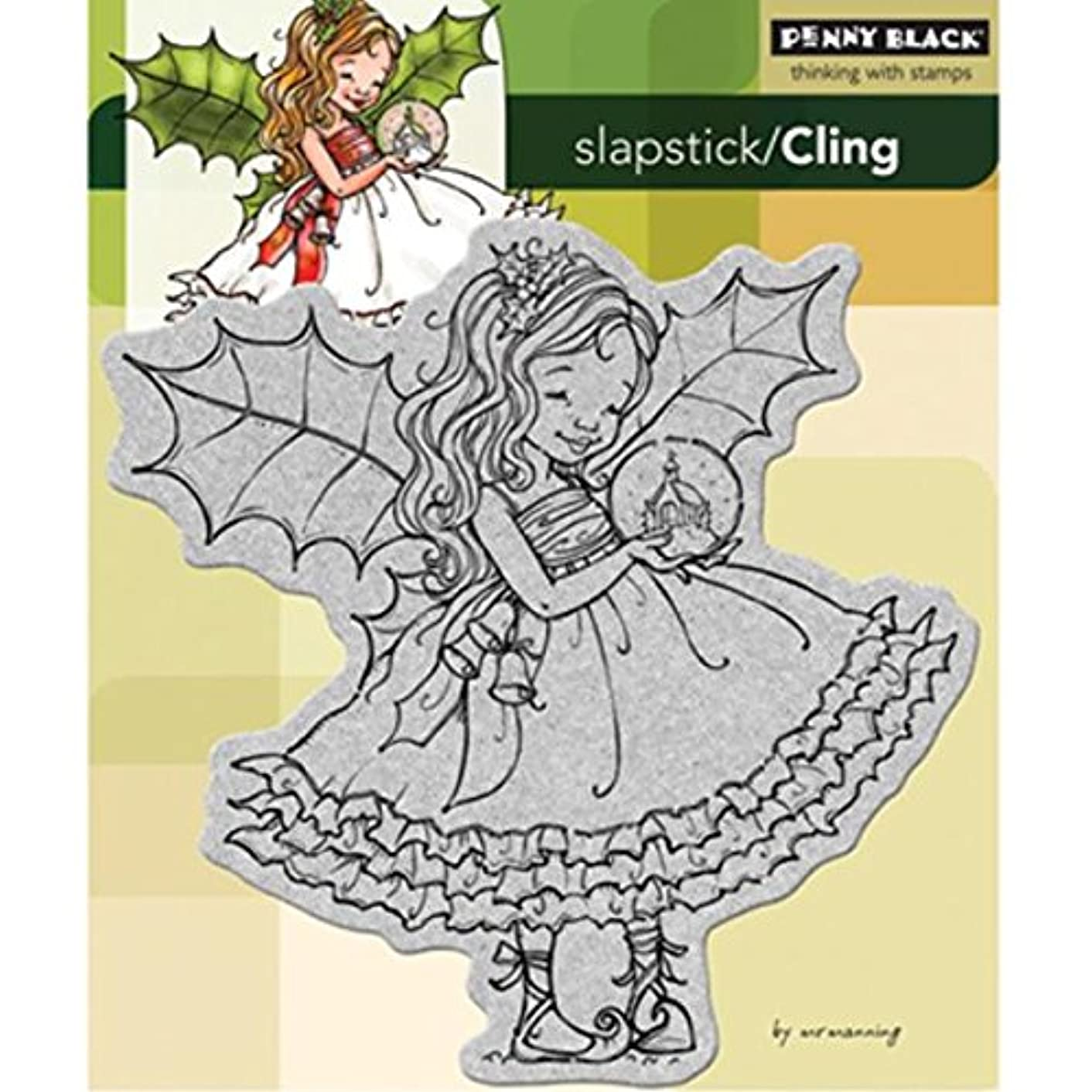 Penny Black 40-173 Fairy Holly Cling Rubber Stamp