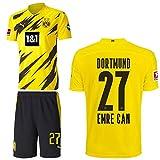 PUMA Borussia Dortmund BVB Heimset 2020 2021 Home Kit Sponsor BL Logo Kinder Emre Can 27 Gr 152