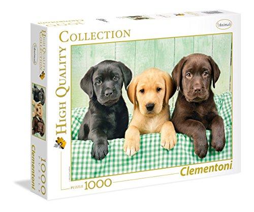 Clementoni 39279.7 - 1000 T Collection DREI Labradore, Klassische Puzzle