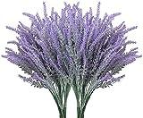 10 Pcs Artificial Flowers, Artificial Outdoor Plants and Flowers Artificial Lavender Flowers Fake Flowers for Wedding, Home, Garden, Party Decor
