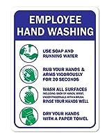 細菌を広げて手を洗わないでください メタルポスタレトロなポスタ安全標識壁パネル ティンサイン注意看板壁掛けプレート警告サイン絵図ショップ食料品ショッピングモールパーキングバークラブカフェレストラントイレ公共の場ギフト
