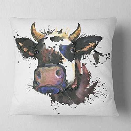 Design Art Throw Pillow, Polyester, 18' x 18'