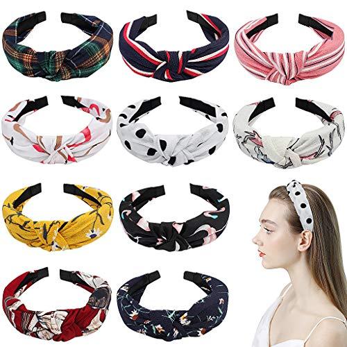 XYGK 10 Pezzi di Accessori dei capelli per donne, Ornamenti elastici per capelli, Accessori di stampa floreale per donne, Fazzoletti per capelli delle donne nella vita quotidiana o nella festa.