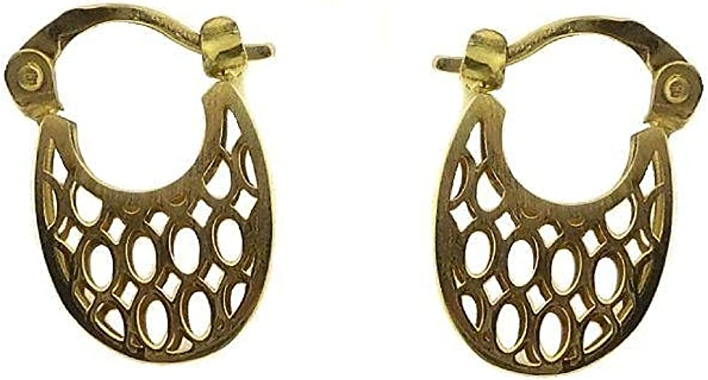 Earrings - Best Selling Products - 18K Yellow Gold woven Hoop 0.55 inch