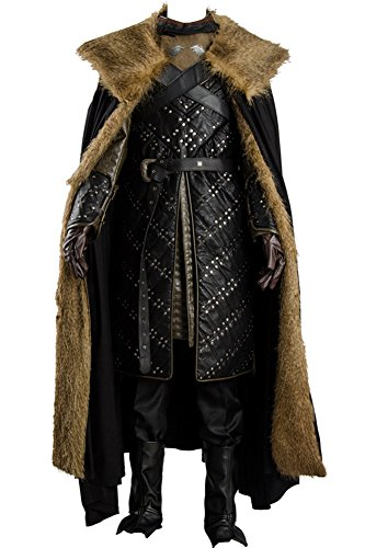 Cosplaysky Game of Thrones Saison 7 Jon Snow Rüstung Halloween Kostüm Outfit -  Schwarz -  XXX-Large