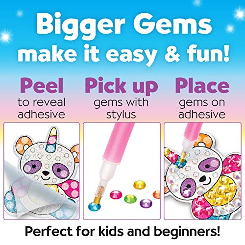 Creativity for Kids Big Gem Diamond Painting Kit - Create Your Own Magical Stickers