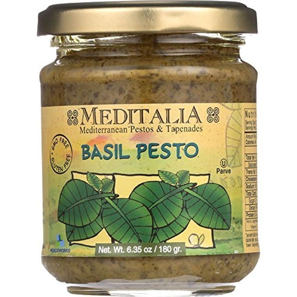 Meditalia Pesto - Basil - 6.35 oz - case of 6 - Gluten Free - Dairy Free - Wheat Free- by Meditalia