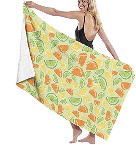 Toalla De Playa,Toalla De Playa Cuadrada Multifuncional Muchas Naranjas Manta De Playa De Gran Tamaño para Adultos Y Niños Súper Suave Y Absorbente Rápido