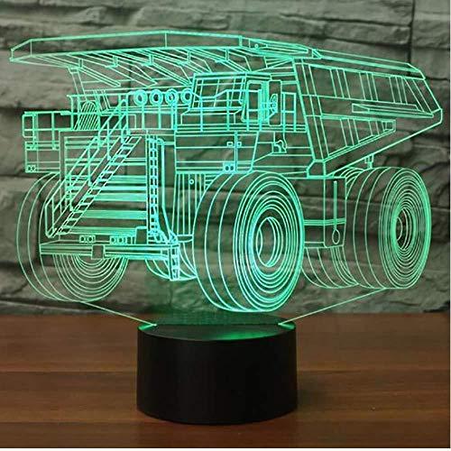 Schlafzimmer Dekor Leuchte Bunte USB Haul Truck Form 3D Schreibtischlampe LED Kinderauto Modellierung Nachtlichter Weihnachtsgeschenke Illusion Weihnachten