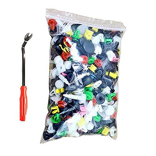 Plastik Nieten,500 Stücke Türverkleidung Befestigung Clips Klammern Auto Stoßstangen Befestigung Clips Universal Kunststoff Nieten mit Türverkleidungs Lösewerkzeug