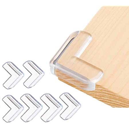 Corner Guards (12 Pack) Clear Corner Protectors High Resistant Adhesive Gel Best Baby Proof Corner Guards Stop Child Head Injuries Tables, Furniture & Sharp Corners Baby Proofing (L-Shaped)