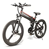 SAMEBIKE Plus E-Bike, E-MTB, E-Mountainbike 48V 10.4Ah 350W - 26-inch Folding Electric Mountain Bike 21-level Shift Assisted (48V/10.4Ah-Black)
