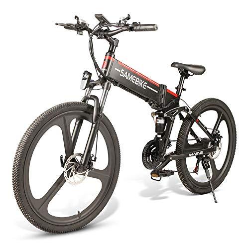 SAMEBIKE Plus E-Bike, E-MTB, E-Mountainbike 48V 10.4Ah 499Wh - 26-inch Folding Electric Mountain Bike 21-Level Shift Assisted