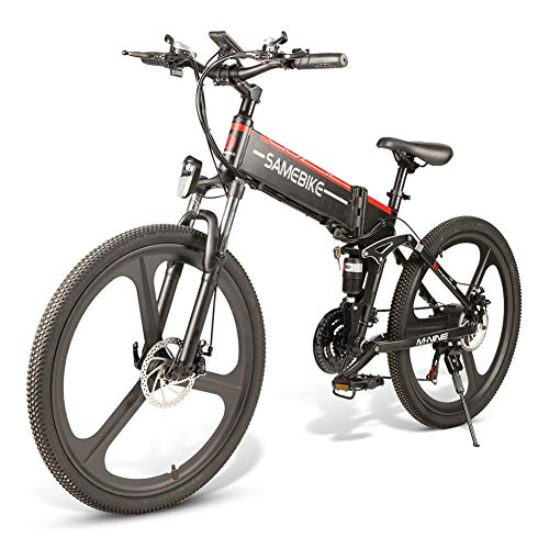 SAMEBIKE Plus E-Bike, E-MTB, E-Mountainbike 48 V 10,4 Ah 499 Wh - 26 pulgadas Folding Electric Mountain Bike 21 niveles Shift Assisted