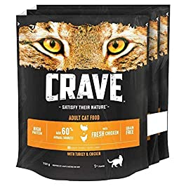 Crave Cat Dry Food 3 x 750g (2.25kg)