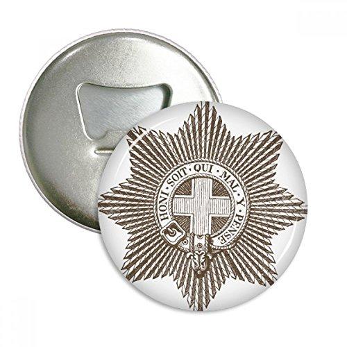 Baroque Art Black White Star cinturón redondo abridor de botellas nevera Imán Pins Badge botón regalo 3pcs