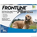 Frontline Plus Flea and Tick Treatment for Dogs (Medium Dog, 23-44 Pounds, 3 Doses)